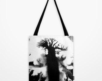 tote bag, canvas bag, black and white bag, ink, gifts for artists, student gift, school gift, school bag, book bag, grocery bag,  market bag