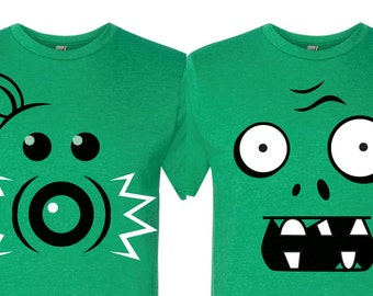 Pea Shooter or Zombie? Customizable Plants vs Zombies-inspired parody shirts!
