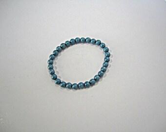 Denim Opaque Czech Glass Druk Beads Blue Pressed Czech Beads Denim Druk Czech Glass Beads Blue Druks Blue Druks 6mm (25 pcs) 29V3