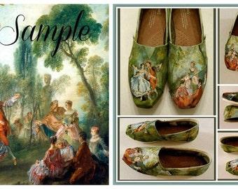 Acrylic Painting Shoes, Wearable Art, Paintings on Shoes, Painted TOMS, Bridal Shoes, Wedding Shoes, Gift for Bride, Custom Artwork, Artwork
