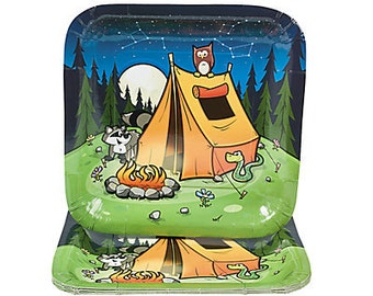 1/ Camp Adventure is out There Dinner plates / Tableware