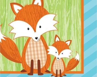 My Cunning Mr Fox Beverage Napkins  / Boy's Fox Theme / Fox Theme / The woodland theme