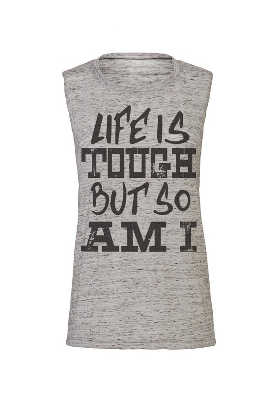 nike jordan kids - life is tough but so am i workout tank workout by SweetestThingCo