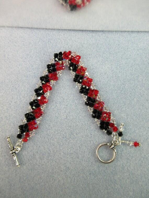 Right Angle Crystal : Swarovski crystals bracelet right angle weave by k mjewelry