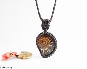Ammonite pendant, Ammonite necklace, Ammonite jewelry, fossil necklace, mens pendant, mans pendant, mens necklace, mens jewelry, fossil