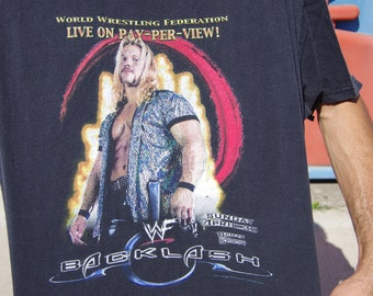 90's worldwide wrestling ferderation wf pay per view blacklast t-shirt size adult extra large