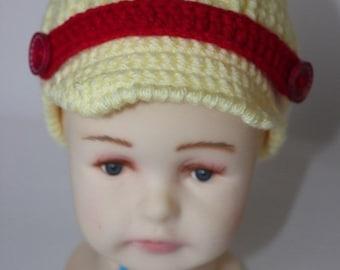 Hand Crocheted Girl Hat, Handmade Hat for Girls
