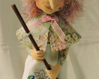 Cloth Art Doll, Spring Witch
