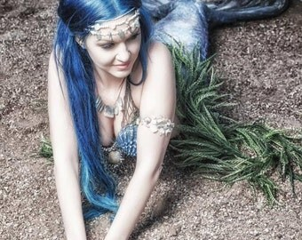 Moon Mermaid Atlantis Lustre Photo Print