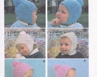 Childrens Bonnet, Childrens Knitting Pattern, winter hat, childrens winter hat, knitting pattern for hat Knitting Pattern for Childrens Hat,