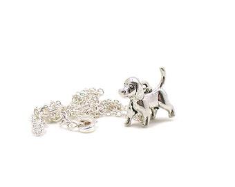 Silver Dog Necklace, Dog Charm Necklace, Dog Jewelry, Silver Dog Jewelry, Jewelry Gift, Dainty Dog Charm, Puppy Dog Necklace, Tiny Dog Charm