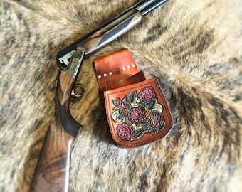 Leather Shooting Pouch Leather Shooting Bag Handmade Shell Bag Leather Trap Womens Shooting Bag Custom Leather Shotgun Shell Pouch Skeet
