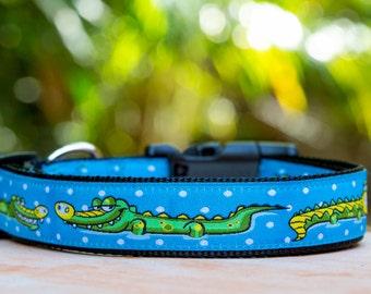 Alligator Dog Collar / XS-XL / Australian Made Dog Collar / Crocodile Dog Collar