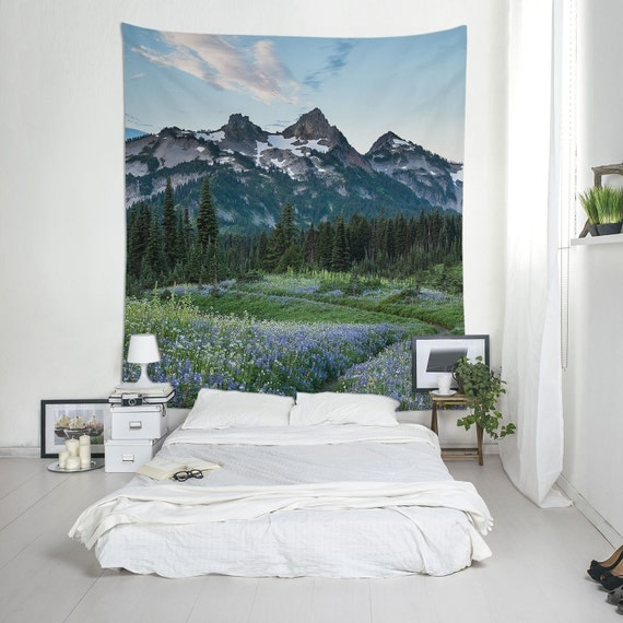 Mountain Tapestries, Nature Wall Art, Home Gifts, Wall Mural, Affordable Wall Art, Mount Rainier National Park
