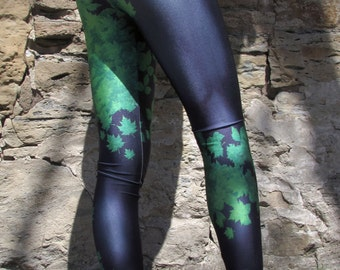 NEW! TAFI Poison Ivy Leggings - Batman New 52 Costume or Yoga Pants Black Milk Galaxy DC Joker Super Hero CosPlay Print