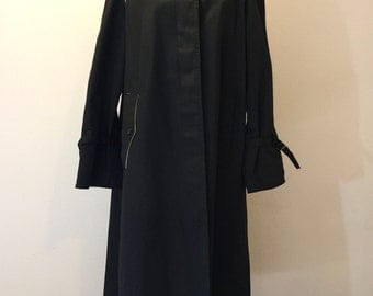Womens Trench Coat Military Medium M 8 10