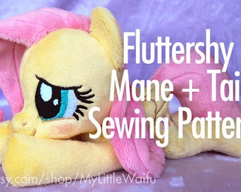 Fluttershy Mane + Tail Sewing Pattern