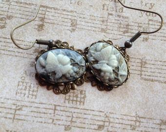Victorian Look Butterfly Earrings, Butterfly Earrings, Victorian Earrings, Gift For Her, Vintage Look