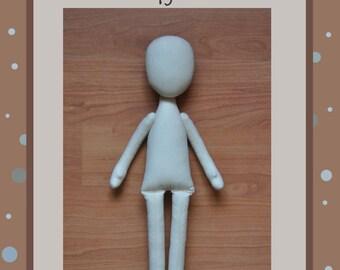 "PDF, Cloth Doll Pattern 15"" , Anna Doll, PDF Sewing Tutorial,Soft Doll Pattern"