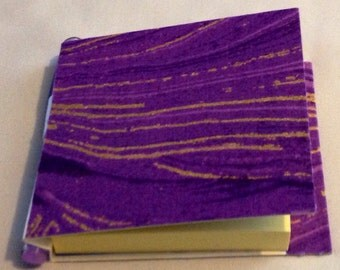 Handmade purple sandstone Post It Note holder with pen and pad