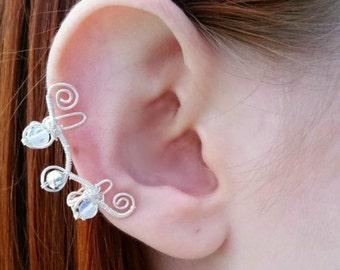 Opalite ear cuff, ear cuff, elven ear cuff