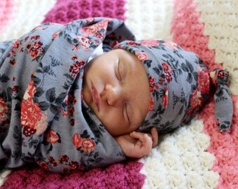 Knotted Newborn Baby Hat | Baby Hat | Baby Girl Hat | Knot Beanie |