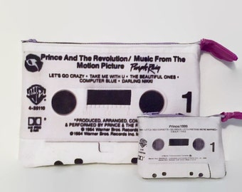 Prince Purple Rain 1999 Large & Mini Cassette Tape Clutch