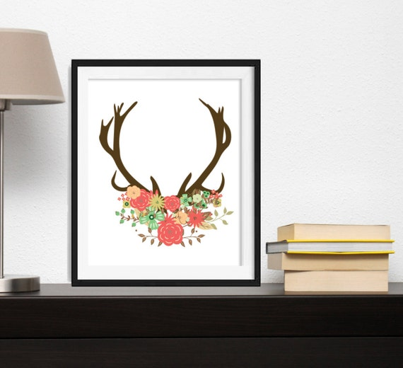 Wall Art Of Deer : Deer wall art decor woodland