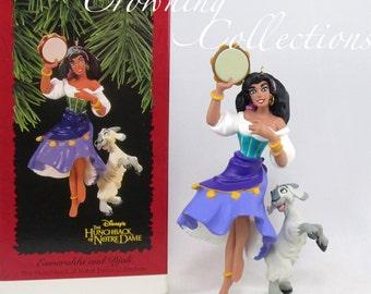 1996 Hallmark Esmeralda and Djali Disney Ornament The Hunchback of Notre Dame Keepsake Vintage Christmas Gypsy and Goat