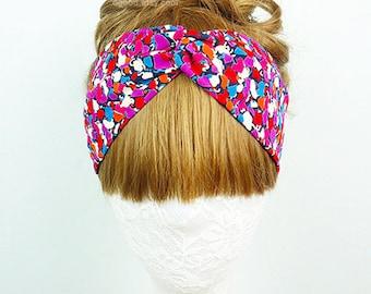 Floral headband, women's headband, Hair Accessories, twist headband, Twist turban, knot headband, headpiece