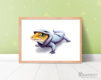 Leopard Gecko Onesie Animal Art Print - 4 Sizes Available