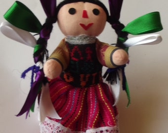 Mexican Girl doll - fabric doll