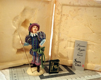 """MINT! NEW Old Stock-Duncan Royale 10"""" Lord of MISRULE Statue (#1502)-Collectors Edition Figurine-1985, Orig Box+Booklet-Santa Collection"""