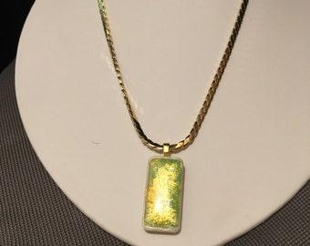 Mini domino pendant with Korean Chain