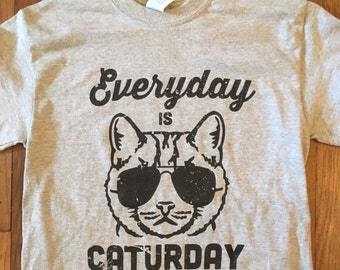 Everyday is Caturday T-shirt