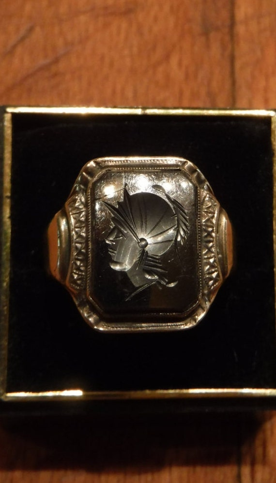 mens silver ring heavy 10 1 grams vintage sterling silver 925