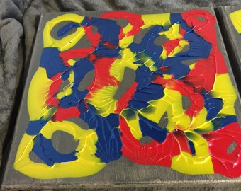 Abstract Mirror Prints  12X12 Paintings. Beautiful Colors  #2