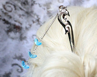 jay bird hair jewelry blue silver hair pick winter jewelry/for/hair girlfriend gifts daughter costume hair mom gifts chime jewelry шв26