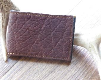 Brown Leather Bi-Fold Wallet