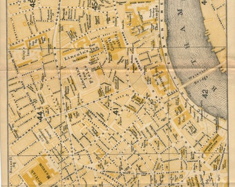 1918 London Street Map, London, England, United Kingdom