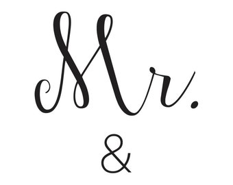 Mr. & Mrs. Custom Print