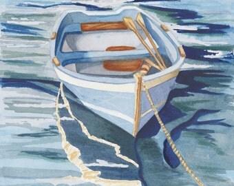 Rowing Boat, Beach Wall Art, Wooden Row Boat, Nautical Decor, beach decor