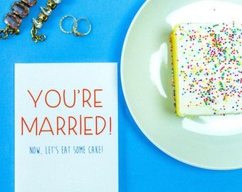 Let's Eat Some Cake! Card, Marriage, Wedding