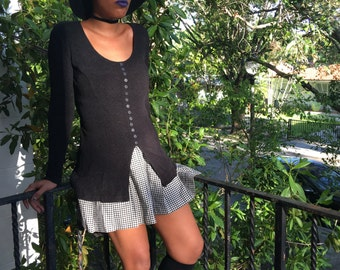 90's Long Sleeve Stretch Witch Top