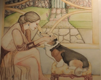 """16"""" x 20"""" Original Watercolor Painting on 140 lb. cold press high quality watercolor paper."""