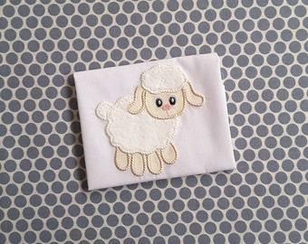 Applique Machine Embroidery Design Baby Lamb