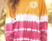 Adult Tie- Dye Game Day Jersey with front chest monogram