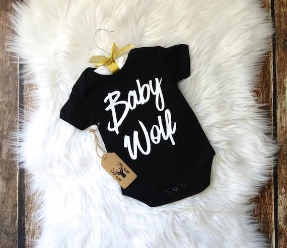 Baby Wolf Onesie Baby Onesie Baby Bodysuit Baby Shirt