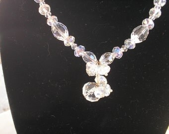 SALE! Crystal Necklace, Downton Abbey Jewelry, Birthday, Mothers Day gift