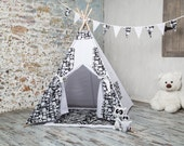 FREE SHIPPING! Children's Teepee Playtent  Children's House. Children's tent. Playhouse. Wigwam